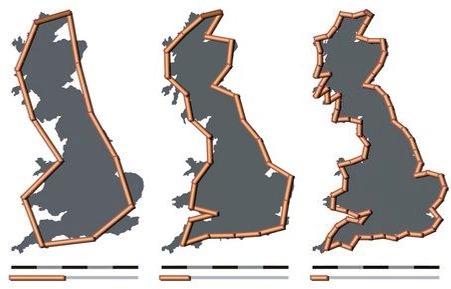 La muy fractal costa de Gran Bretaña